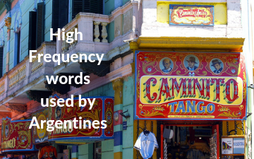 High frequency words used by Argentines